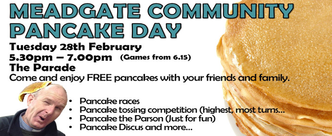 Pancake Tuesday at Meadgate Church in Great Baddow